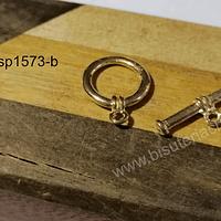 Cierre estilos timón baño de oro, 16 mm de diámetro, por juego