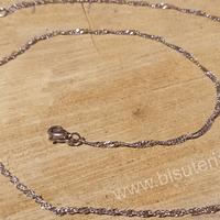 Collar acero, 2 mm de ancho, 40 cm de largo, con cierre