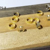 Separador baño de oro, 6 x 2 mm, set de 10 unidades