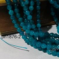 Agatas, agata de 4 mm, en tono calipso oscuro, 89 piedras aprox