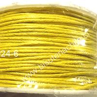 Hilos, Hilo de algodón amarillo, 1 mm, carrete de 40 yardas