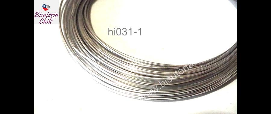 Alambre aluminio para modelar color plateado, 1 mm de grosor, por rollo de 20 grs.