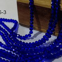 Cristal facetado azul de 2 x 2 mm, tira de 190 cristales aprox