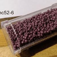 Mostacilla calibrada color palo de rosa oscuro, 20 grs