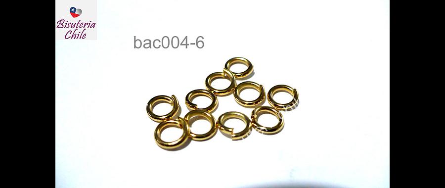 Argollas con baño de oro, 5 mm de diámetro, set de 1 grs (13 unidades aprox)