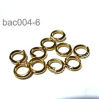 Argollas con baño de oro colombiano, 5 mm  delgada de diámetro, set de 20 unidades