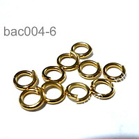Argollas con baño de oro, 5 mm de diámetro, set de 1 grs (16 unidades aprox)