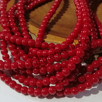 Jade rojo de 4 mm, tira de 103 piedras aprox.