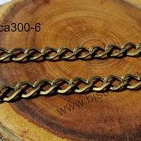 Cadenas, cadena envejecida, eslabón de 9 x 6 mm, por metro