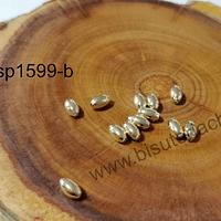 Separador baño de oro, 5 x 3 mm, set de 1 grs, (12 unidades aprox)