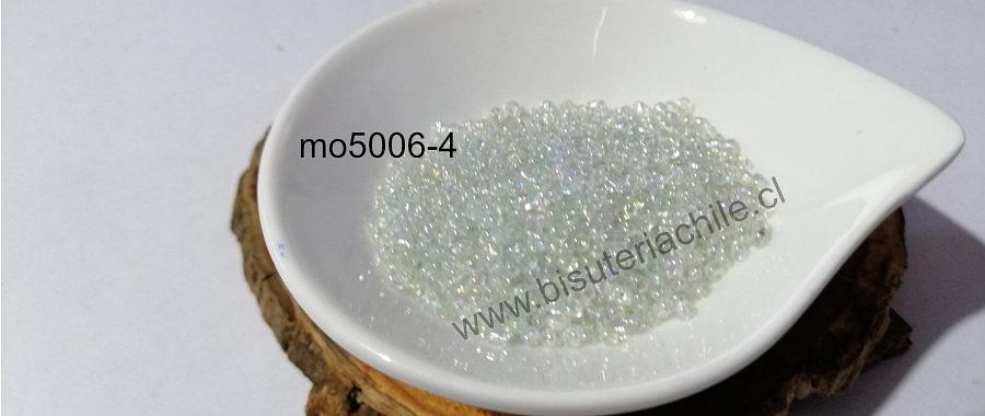 Mostacilla cristal tornasol , 11/0 (2.1 mm), set de 50 grs.