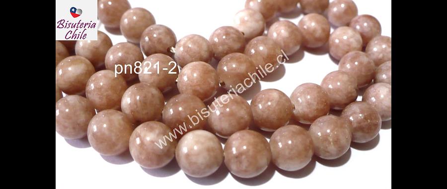 Peach moonstone 8 mm, tira de 46 a 48 piedras