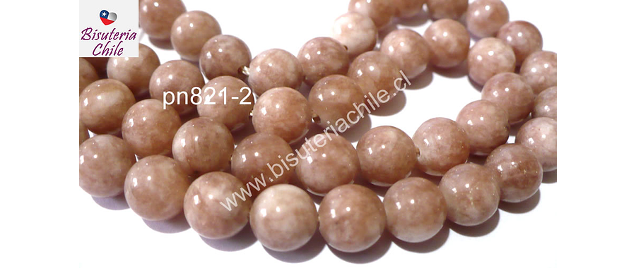 Peach moonstone 4 mm, tira de 90 piedras