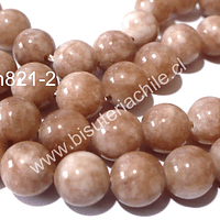 Peach moonstone 8 mm, tira de 46 a 48 piedras