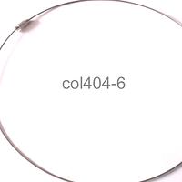 Base de collar de acero con cierre, 14,5 mm de diámetro, 1mm de grosor , por unidad