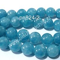 Jade azul, 8 mm tira de 48 piedras aprox