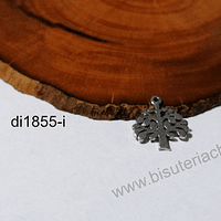 Dije acero árbol de la vida, 13 x 12 mm, por unidad