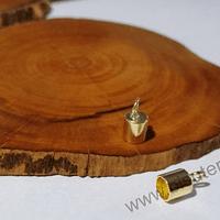 Terminal baño de oro, agujero de 5 mm, por par
