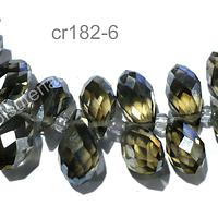 cristal en forma de gota, facetado color café, 12 mm de largo por 6 mm de ancho, set de 10 unidades
