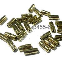Separador dorado, 7 x 3 mm, agujero de 1 mm, set de 30 unidades