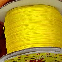 Hilos, Hilo chino color amarillo, 0,5 mm de ancho, rollo de 150 metros