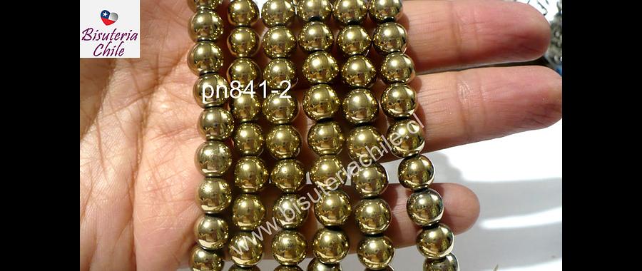 Hematite doradas 8 mm, tira de 50 piedras aprox.