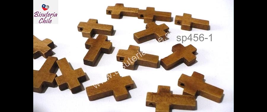 Cruz de madera, 22 x 15 mm, 5 mm de ancho, set de 12 unidades