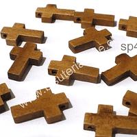 Cruz de madera, 21 x 4 mm, 5 mm de ancho, set de 12 unidades