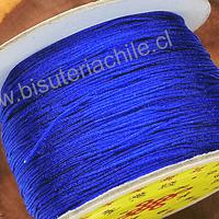 Hilos, Hilo chino color azul, 0,5 mm de ancho, rollo de 150 metros
