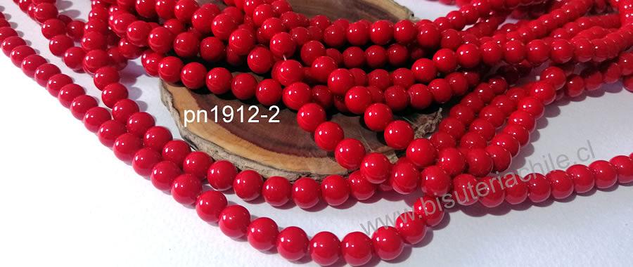 Jade rojo de 6 mm, tira de 68 piedras aprox