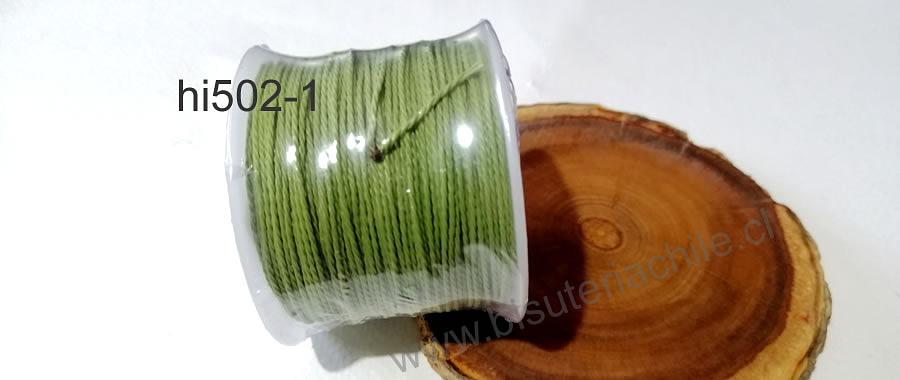 Hilos, Hilo encerado 70 mts. Color verde musgo