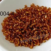 mostacilla café fuerte cristal de 8/0 (3 mm), set de 50 grs