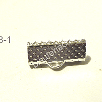 Terminal plateado d apriete, 16 x 7 mm, set de 8 pares