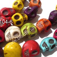 Resina en forma de calavera, 10 mm de diámetro, tira de 32 piezas aprox.