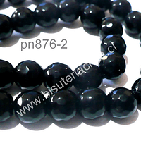 Onix facetado 8 mm, tira de 48 piedras aprox