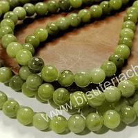 Jade japonés, de 6 mm, tira de 65 piedras aprox.