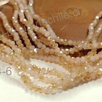 cristal facetado piel con brillos naranjos de 3 mm x 2 mm, tira de 148 cristales aprox