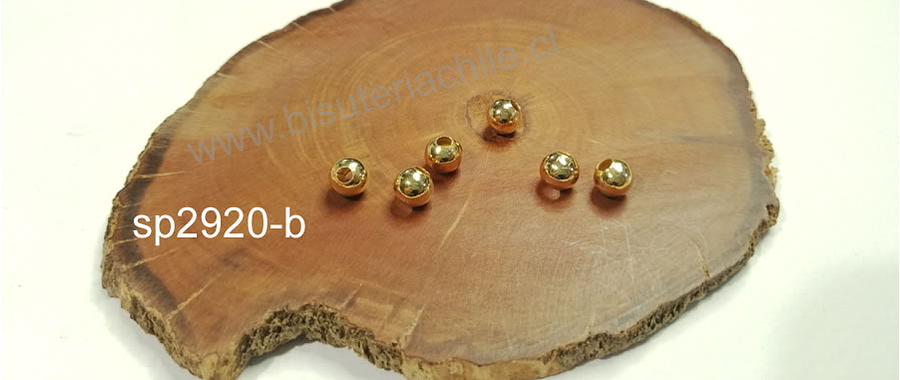 Separador baño de oro de 5 mm, set de 7 unidades
