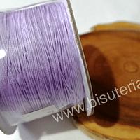 Hilos, Hilo chino macrame color lila, 0,5 mm de ancho, rollo de 150 metros