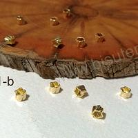 Separador baño de oro, 4 x 3 mm, set de 1 gr. (12 aprox)