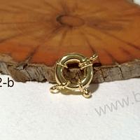 Cierre baño de oro, 17 mm, por unidad