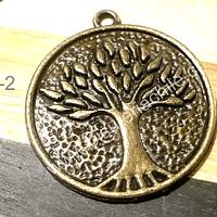Colgante envejecido árbol de la vida, 30 mm de diámetro, por unidad