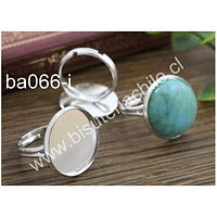 Base cambuchón anillo 18 mm, ajustable, libre de niquel, set de dos unidades, no incluye cambuchón