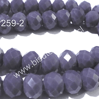 Cristal 10 x 8 mm, tonos lila, set de 20 unidades