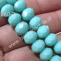 Cristal 10 x 8 mm, tono jade, set de 20 unidades