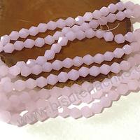 Cristal tupi 6 mm rosado tira de 49 cristales aprox.