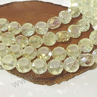 Cristal amarillo claro, 12 mm x 8 mm de ancho, set de 10 unidades