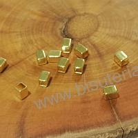Separador baño de oro, 4 x 3 mm, set de 10 unidades