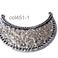 Base de collar plateado, 49 x 22 mm, por unidad