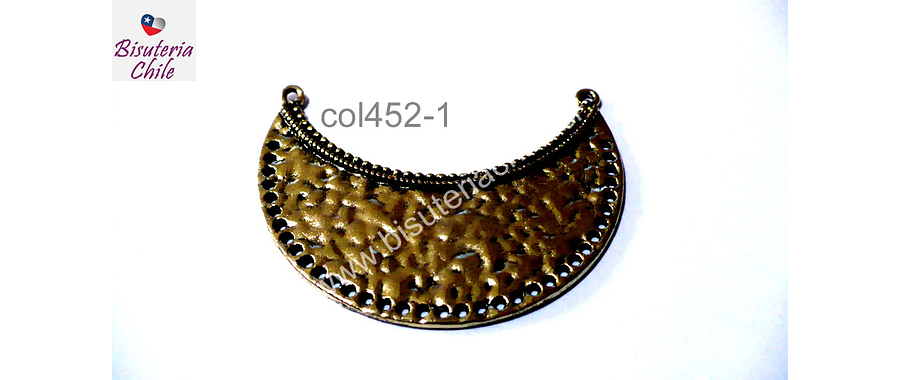 Base de collar dorado, 49 x 22 mm, por unidad